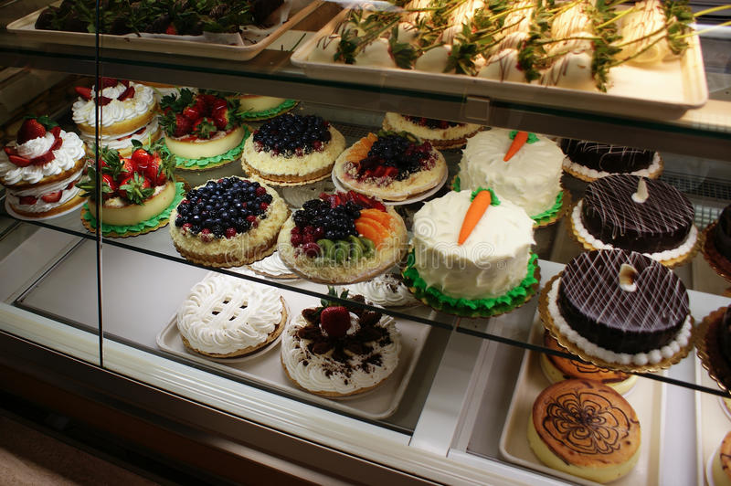 Cakes In A Bakery Stock Photo