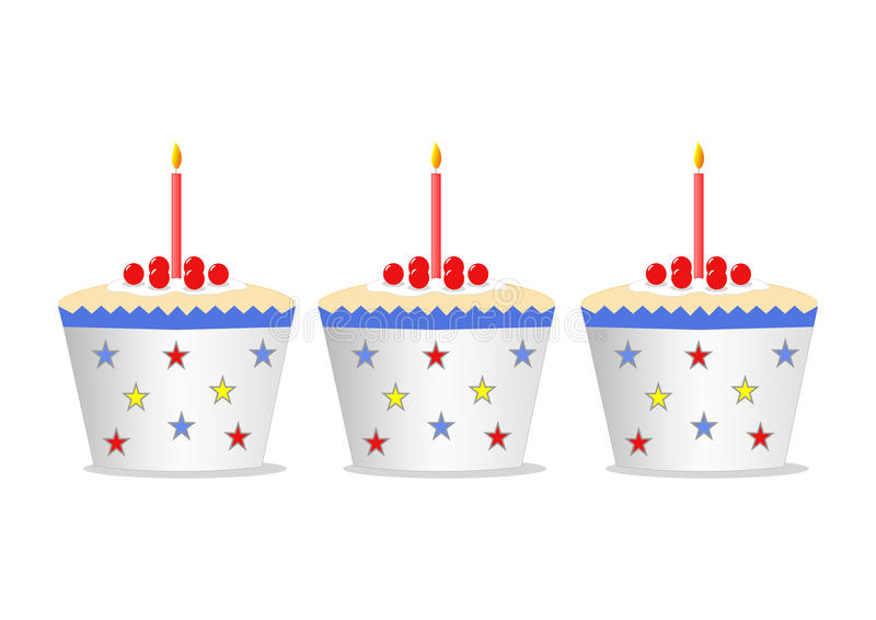 Cakes with candles