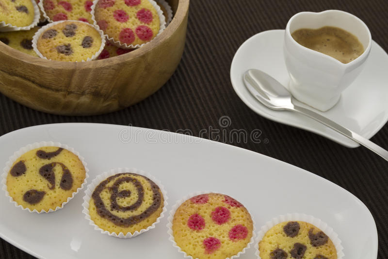 Cakes and coffee royalty free stock image