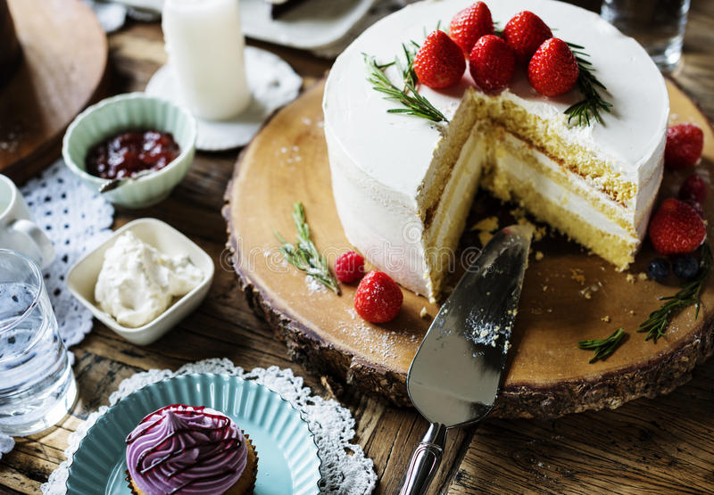 Cakes Delicious Dessert Bakery Event Party Reception royalty free stock image