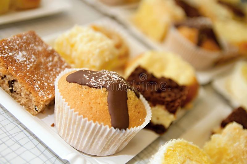 Cakes. Image of sweet cakes on a table royalty free stock photos