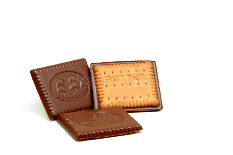 Cakes met chocolade royalty-vrije stock afbeelding