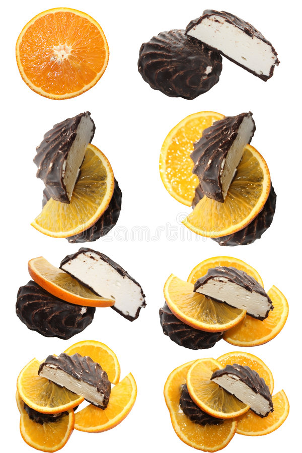 Download Cakes and orande slices stock photo. Image of dessert - 7568040
