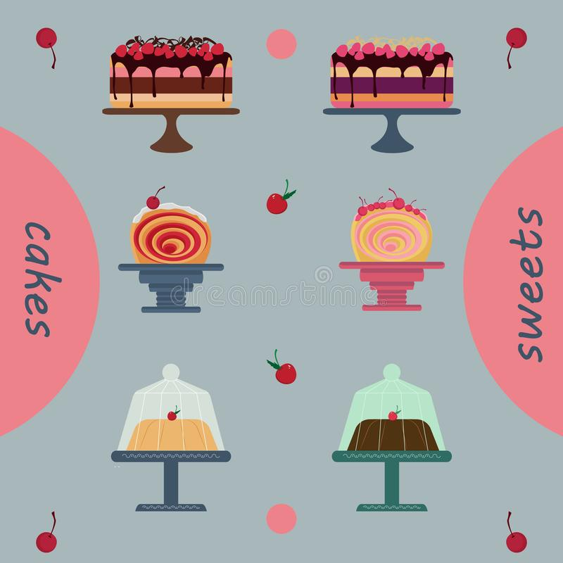 Cakes Pack Holidays Pastries, Pastry Shop royalty free stock images