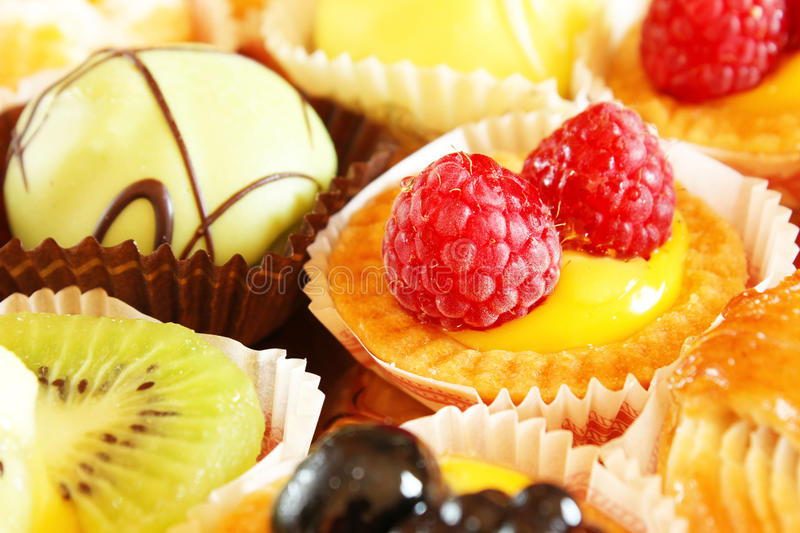 Cakes and pastries stock images