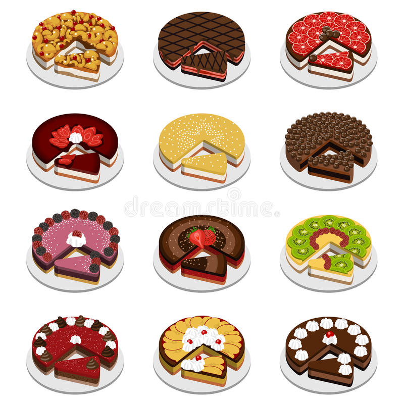 Download Cakes and pies stock vector. Image of gift, birthday - 28938192