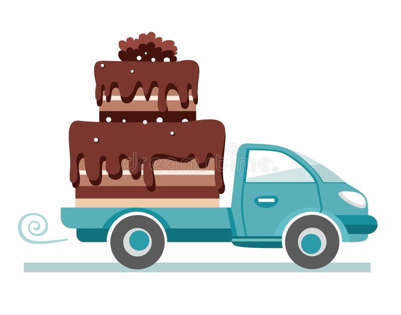 Cakes, shipping, vector image. royalty free illustration