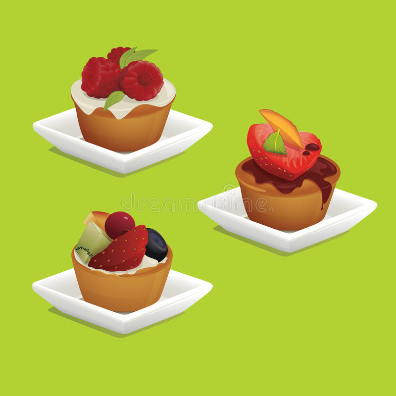 Free Cakes With Fruits Royalty Free Stock Image - 9422056