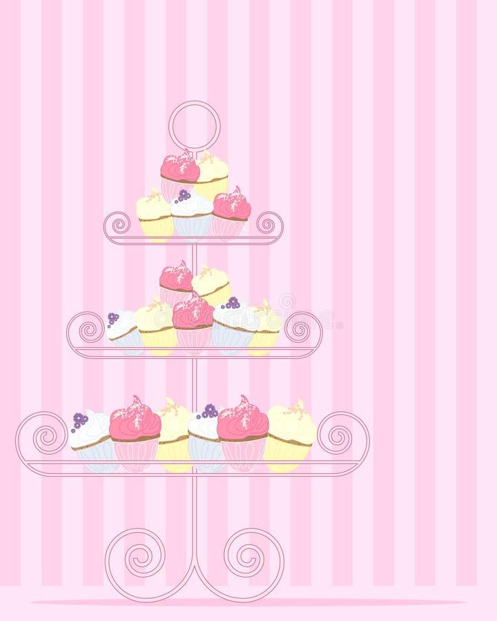 Cakestand vektor illustrationer