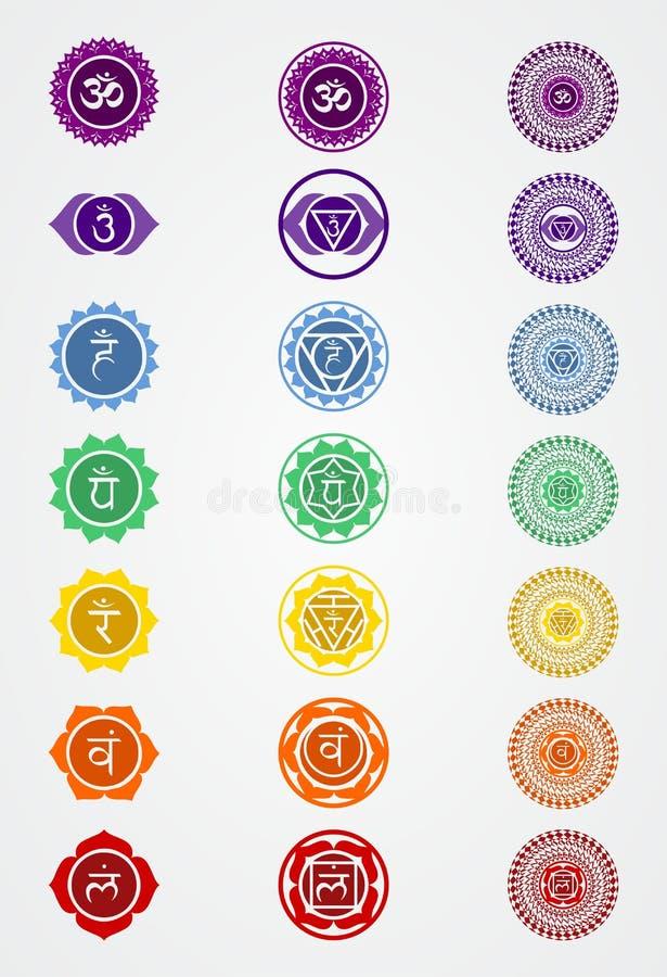 Cakra znaka zapasu illustratin logo wektorowy symbol chakra zdjęcie royalty free