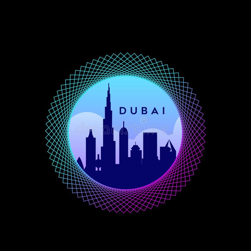 Cakrawala Ντουμπάι Gradien διανυσματική απεικόνιση