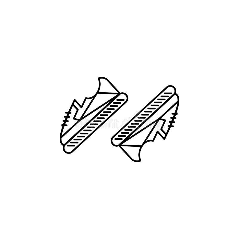 Calça o ícone dos calçados Elemento do ícone da roupa para apps móveis do conceito e da Web A linha fina ícone dos calçados das s ilustração stock