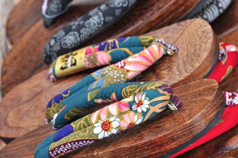Calçados de Japão ou deslizador ou zori tradicional foto de stock royalty free