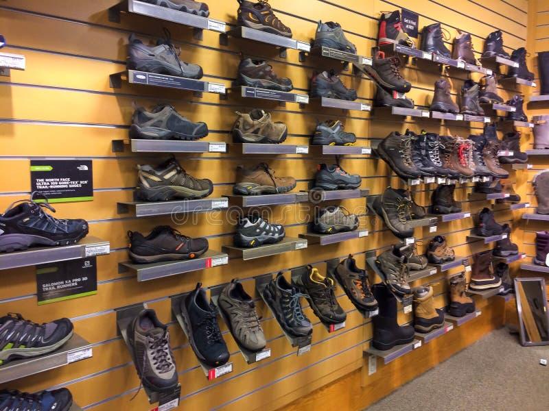 Calçados REI Eugene, OU fotografia de stock