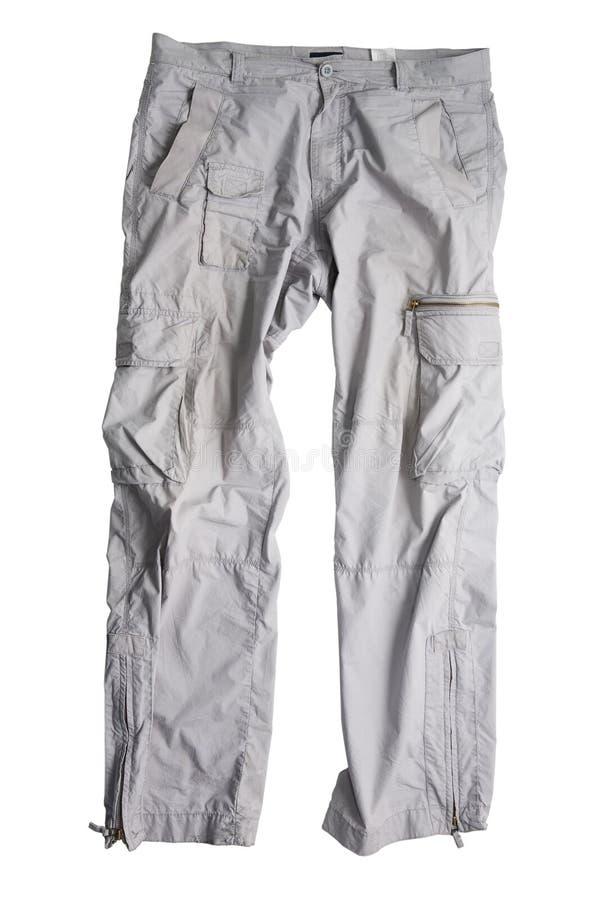 Calças cinzentas fotografia de stock