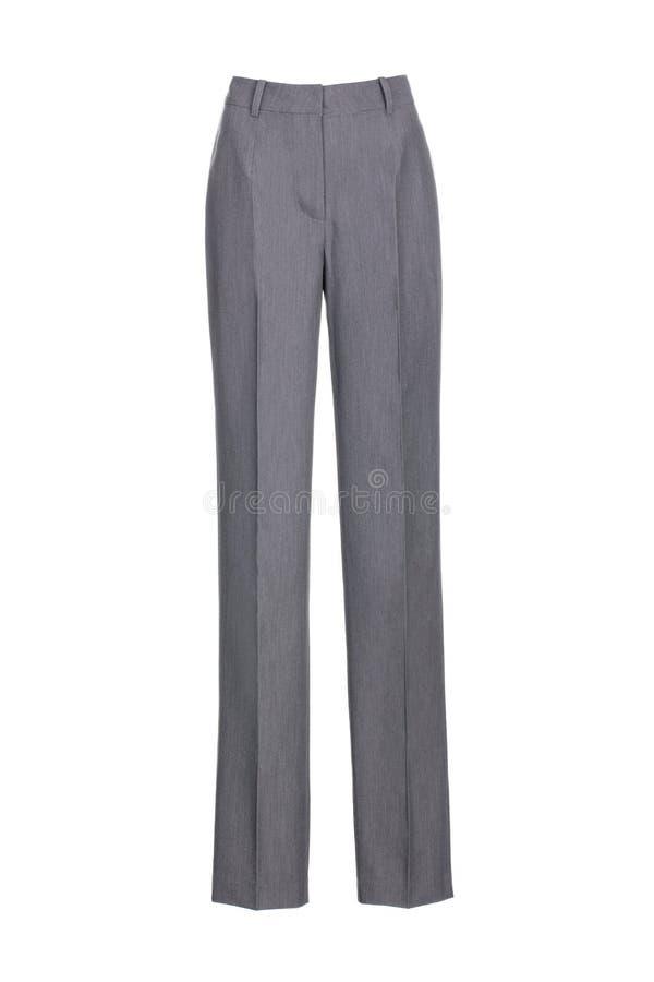 calças clássicas do ` s das mulheres isoladas no fundo branco fotos de stock
