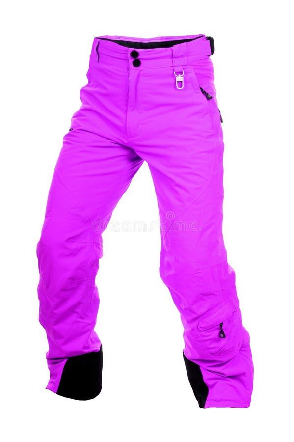 Calças cor-de-rosa do esqui fotos de stock