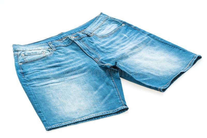 Calças curtos das calças de brim fotografia de stock