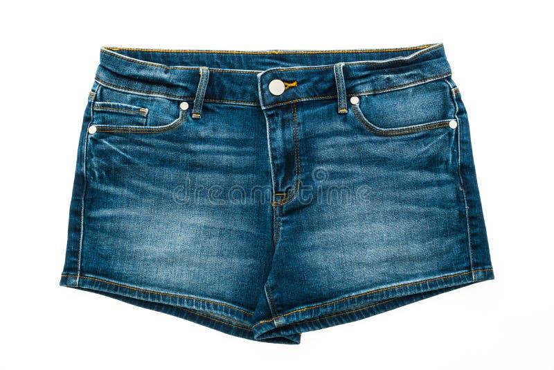 Calças curtos de brim da forma para mulheres foto de stock