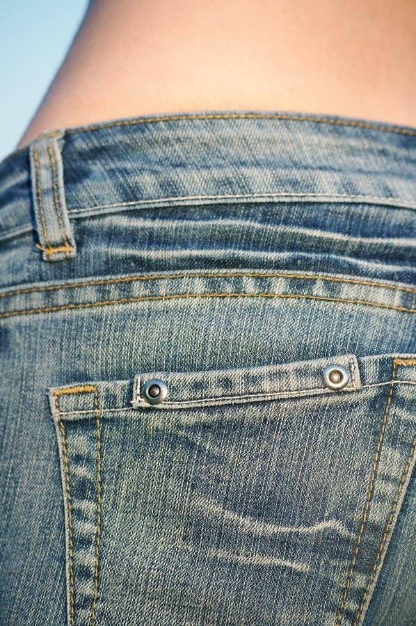 Calças de brim 01 foto de stock