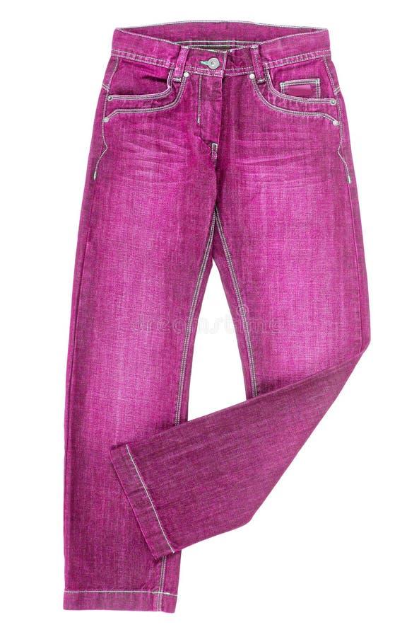 Calças de brim cor-de-rosa foto de stock royalty free
