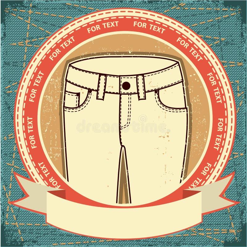 Calças de brim fêmeas ilustração stock