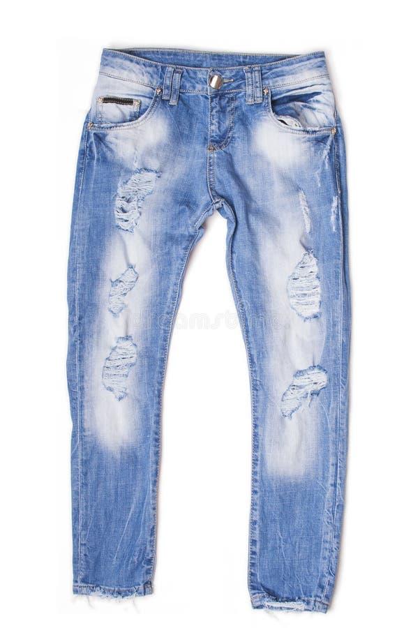 Calças de brim rasgadas do noivo imagem de stock