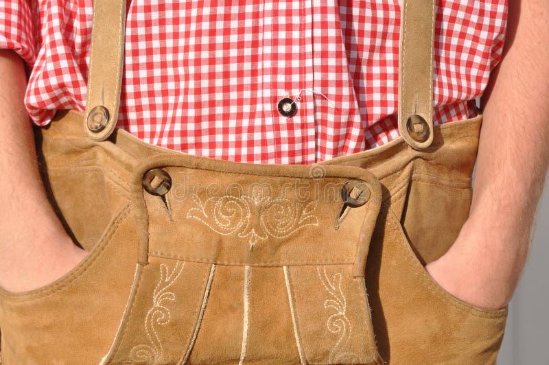 Calças de couro bávaras foto de stock