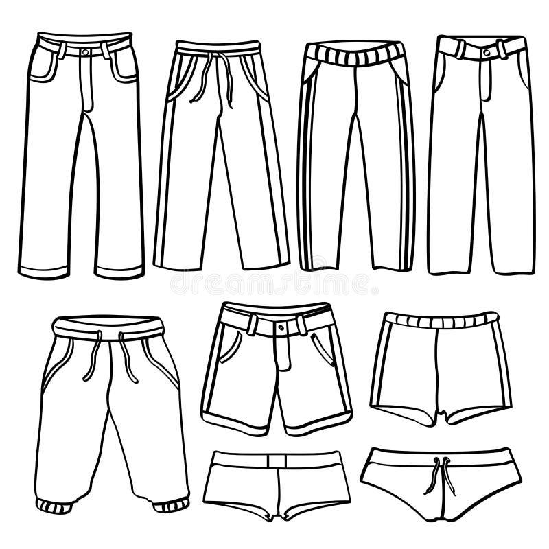 Calças de Men's ilustração do vetor