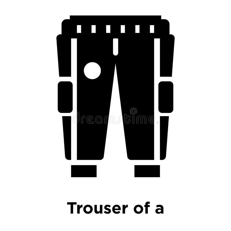 Calças de um vetor do ícone do jogador de futebol isoladas no backg branco ilustração stock