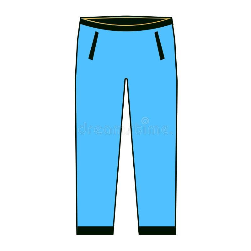 Calças dos homens s - elemento da forma Calças de brim dos homens s A calças dilui a linha ilustração Ilustração do vetor ilustração royalty free