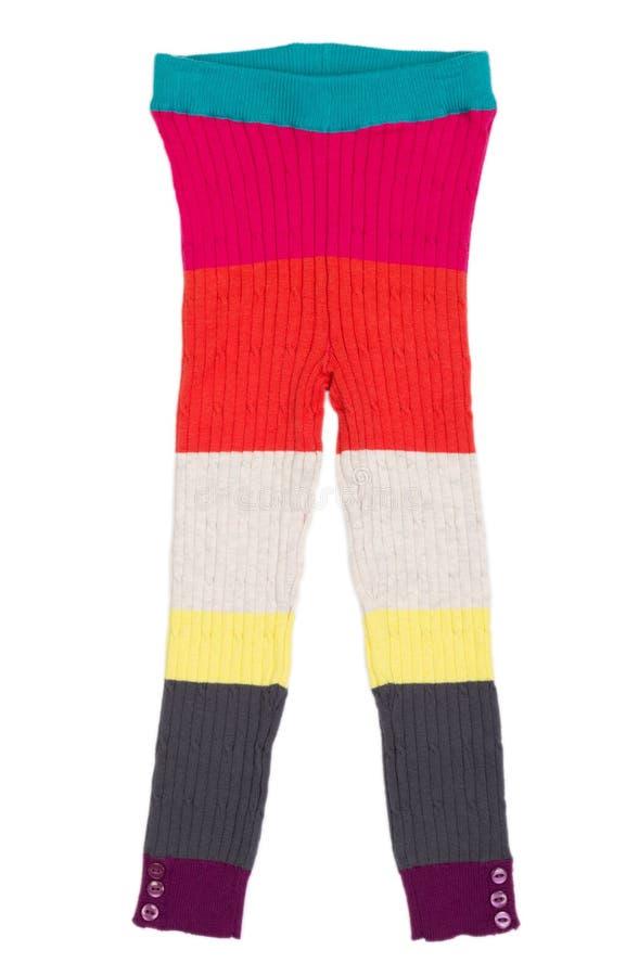 Download A Calças Feita Malha Das Crianças Imagem de Stock - Imagem de leggings, moderno: 29841117