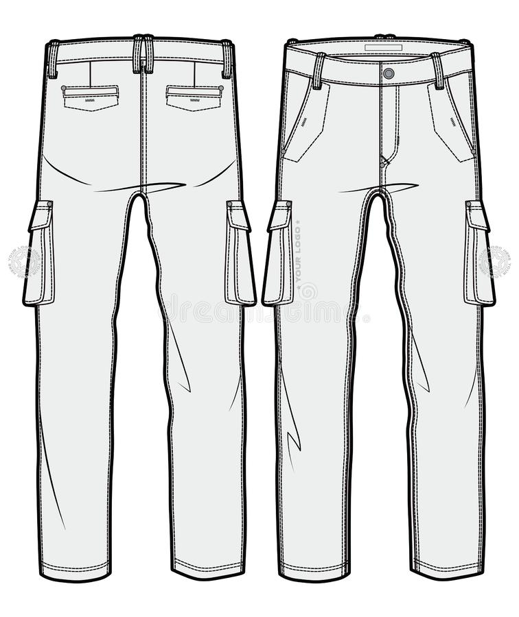 Calças vazias da carga ilustração do vetor