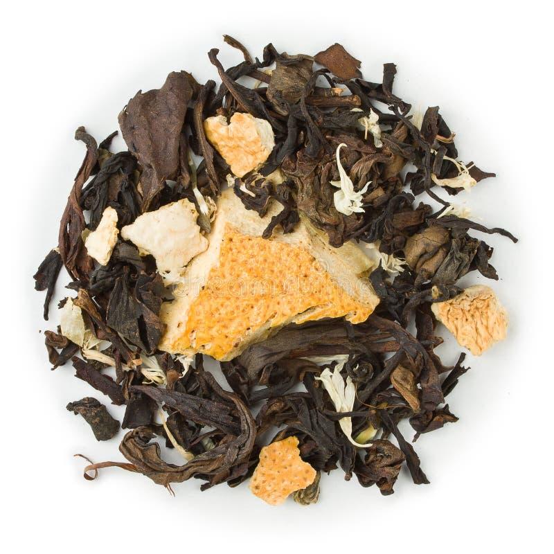 Cal de Zitrone do chá de Oolong foto de stock