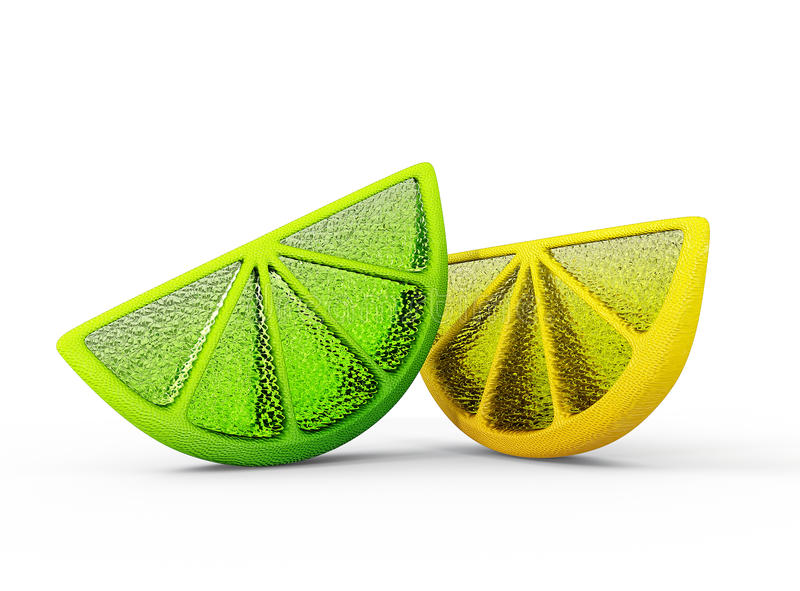Cal e limão ilustração do vetor