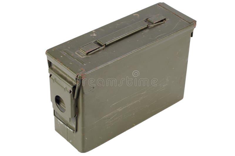30 Cal Metal Ammo Can fotografia de stock royalty free