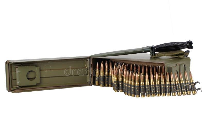 30 Cal Metal Ammo Can com correia da munição fotos de stock