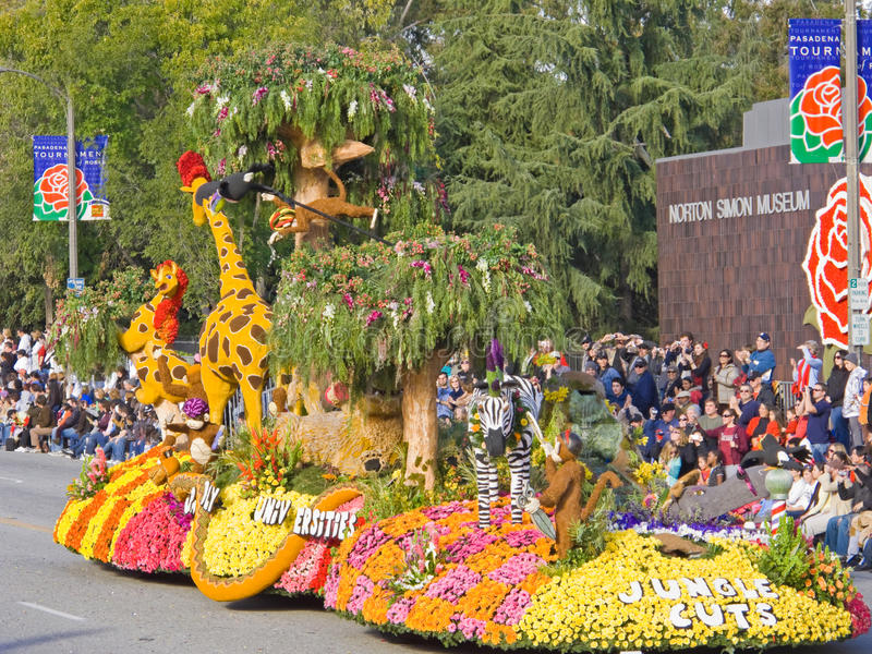 Download Cal Poly Universities 2010 Rose Bowl Float Editorial Stock Photo - Image of branches, hippopotamus: 12465973