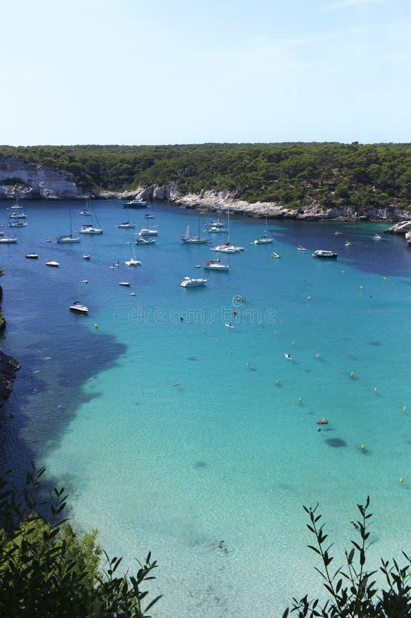 Cala在Menorca海岛 免版税库存照片
