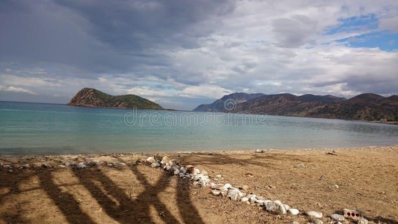 Cala虹膜彩虹海岛 库存照片