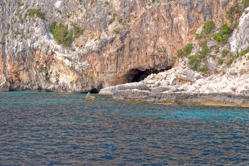 Cala παραλία Gabbiani dei - Σαρδηνία - Ιταλία στοκ εικόνες