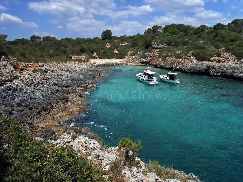 Cala Brafi in Majorca stock images
