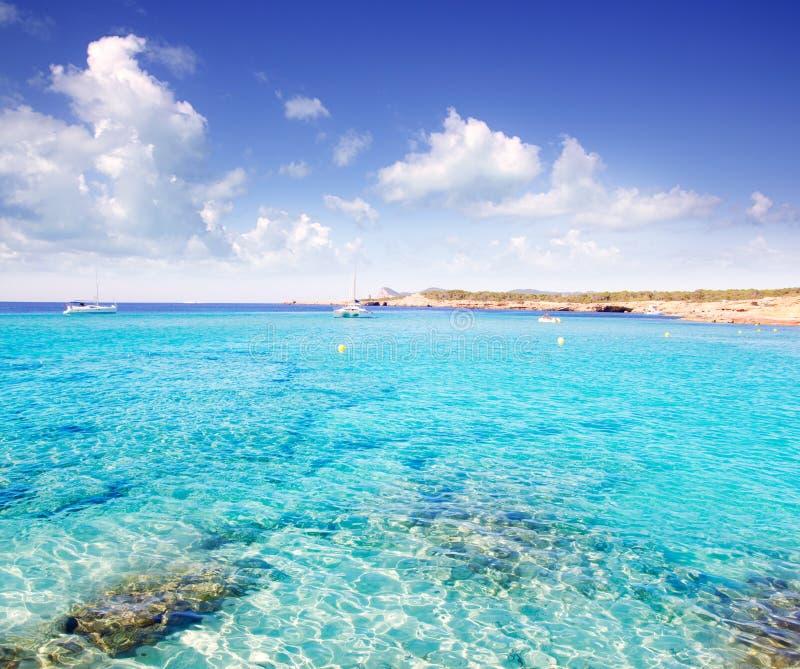 Cala Conta在圣安东尼奥附近的Ibiza海岛 免版税库存图片