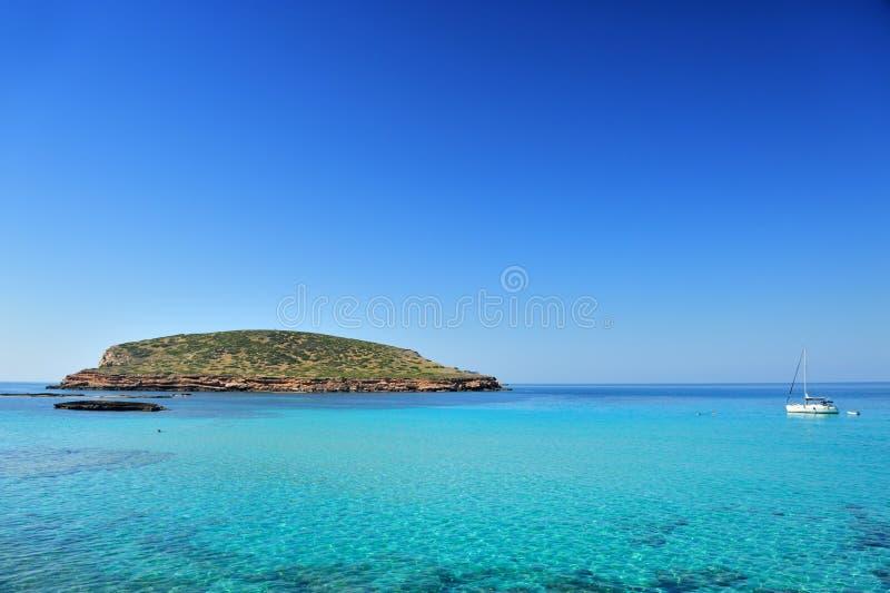 Cala Conta, Ibiza Spain imagens de stock