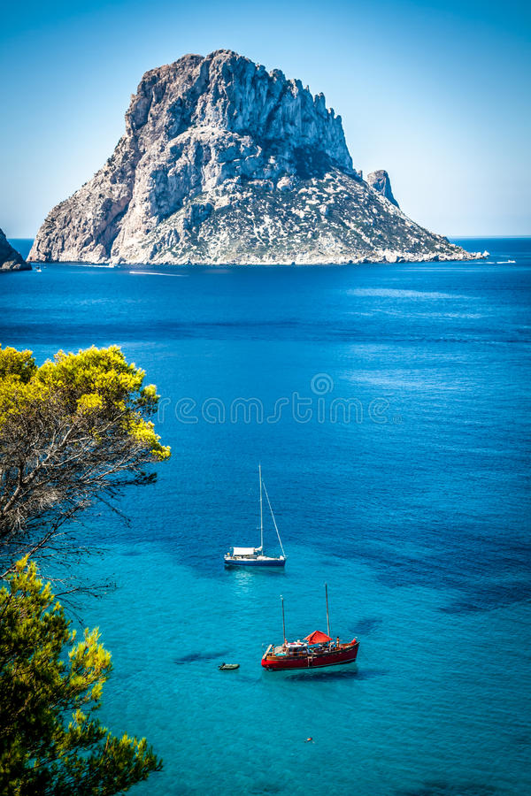 Cala d'Hort, Ibiza (Hiszpania) zdjęcia stock