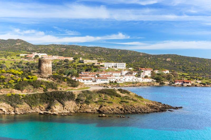 Cala D ` Oliva, Asinara, Sardinige royalty-vrije stock fotografie