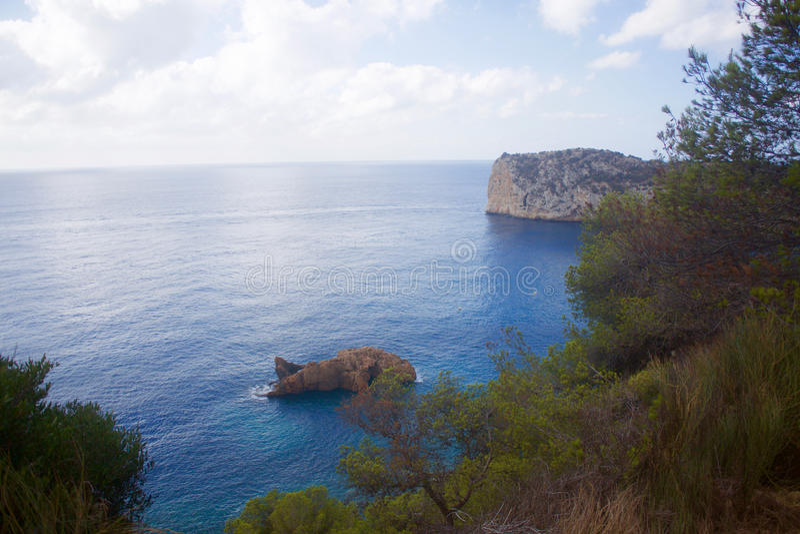 Cala de Ambolo - Javea - España fotografía de archivo libre de regalías