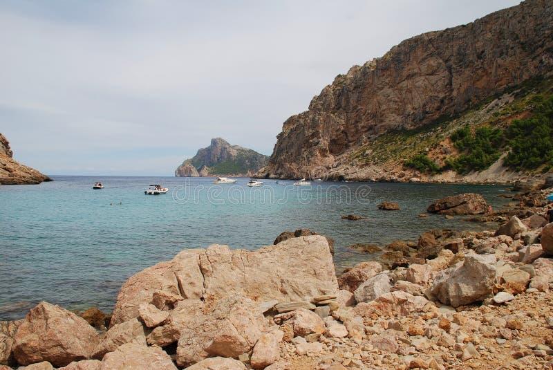 Cala de Boquer strand på Majorca fotografering för bildbyråer