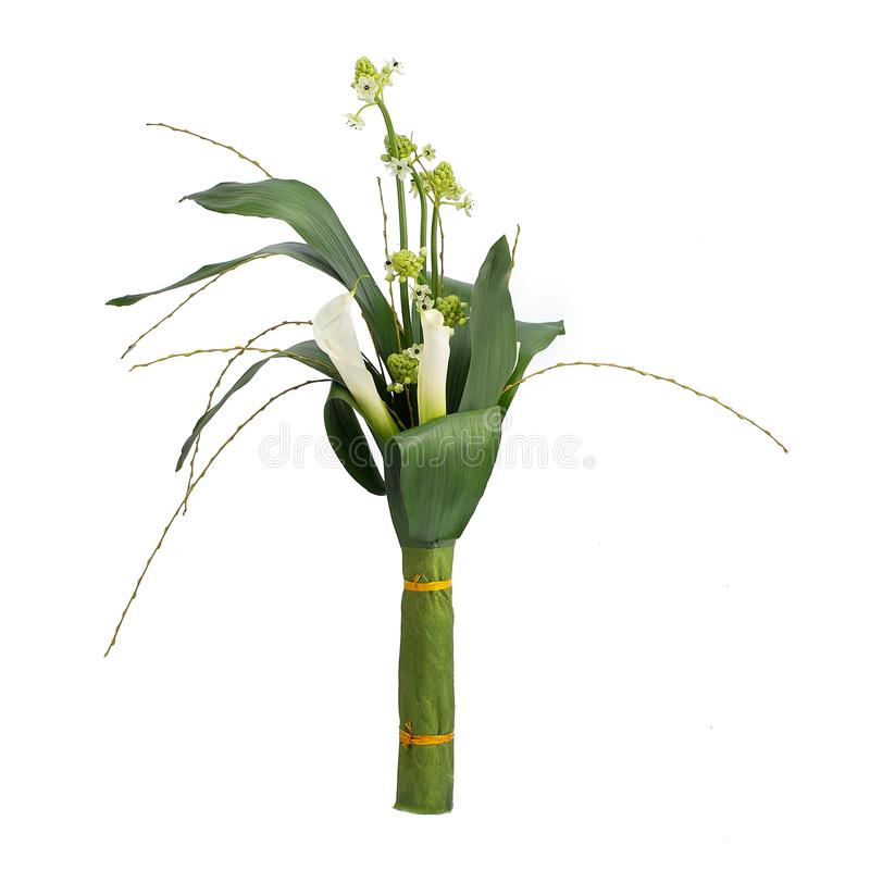 Cala de la flor del ramo en un estilo aislada foto de archivo libre de regalías