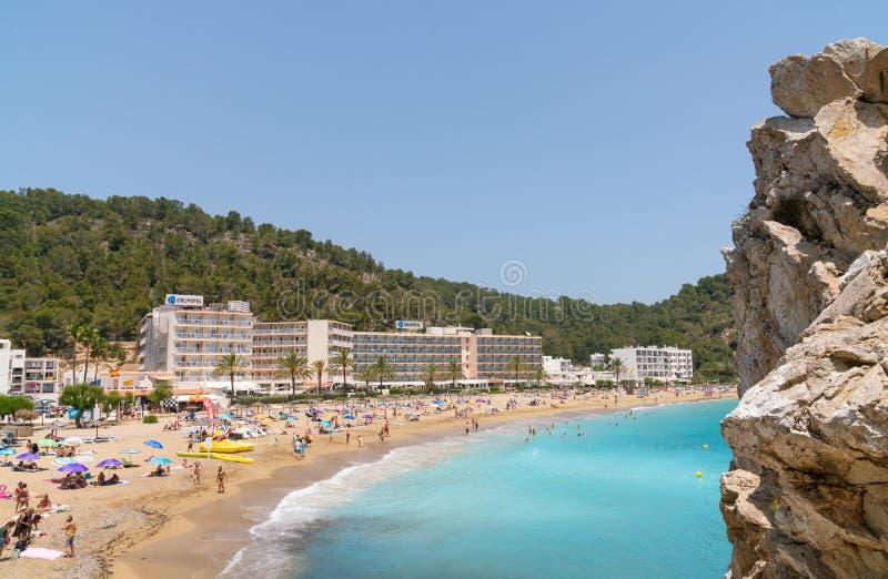 Cala de Sant Vicent em Ibiza, Espanha imagem de stock